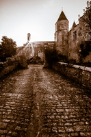 Château de Courcelles au levé du jour