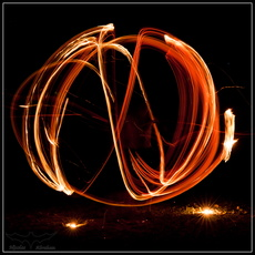 Light Painting flammes